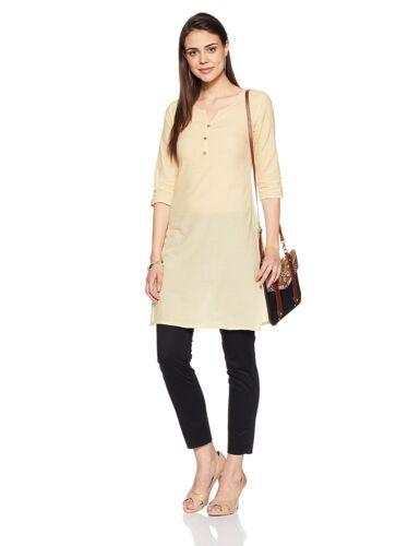 Women/'s//Girls Designer Ethnic Straight Rayon Kurti Front Casual Wear Tunic