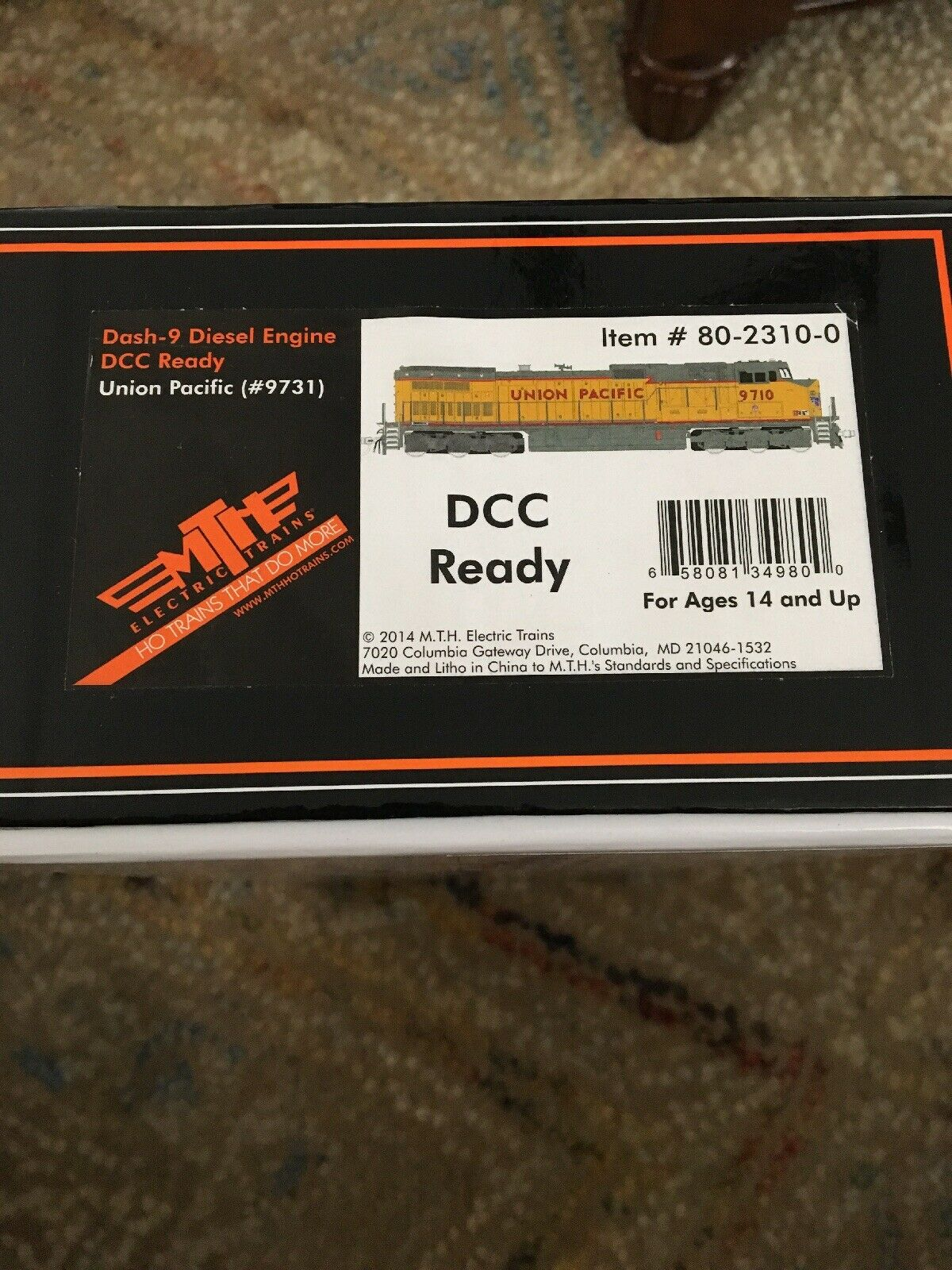 MTH MTH8023100 HO Dash-9 w NMRA, UP Diesel Engine DCC Ready NEW