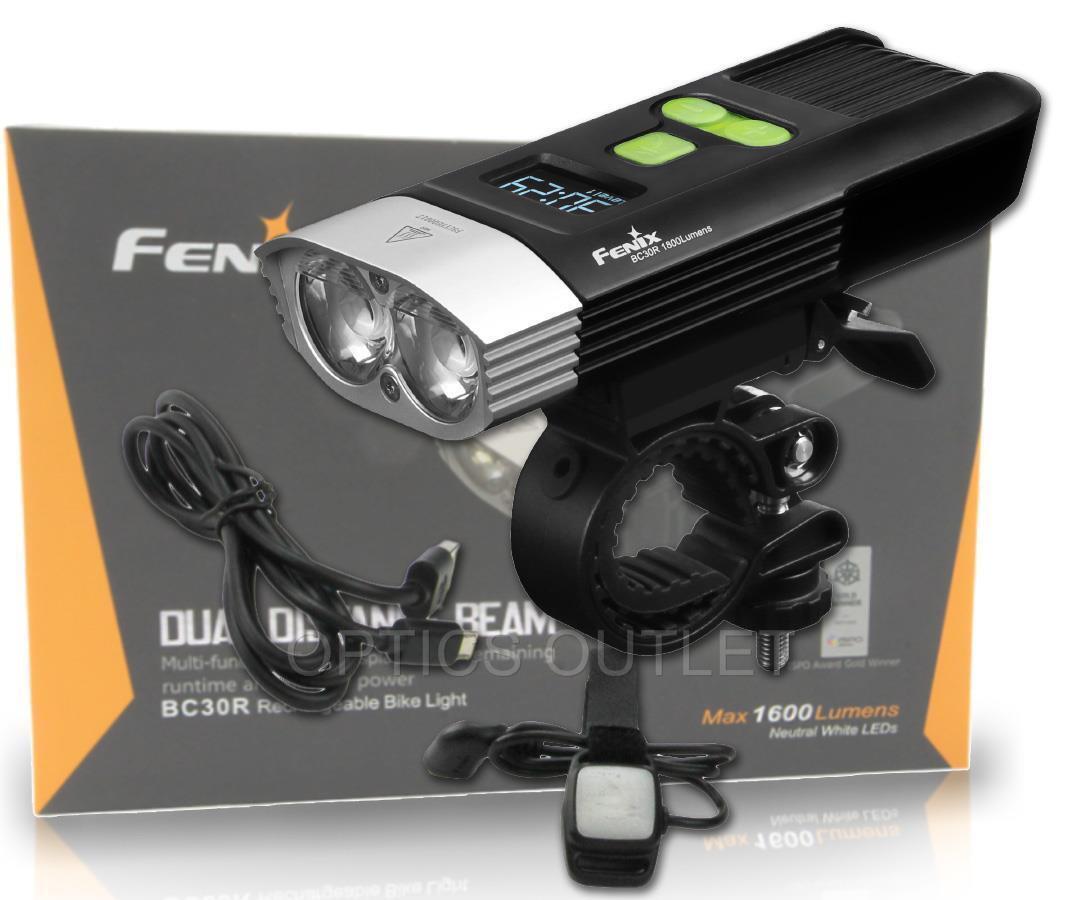 Fenix BC30R USB rechargeable bike light 2017