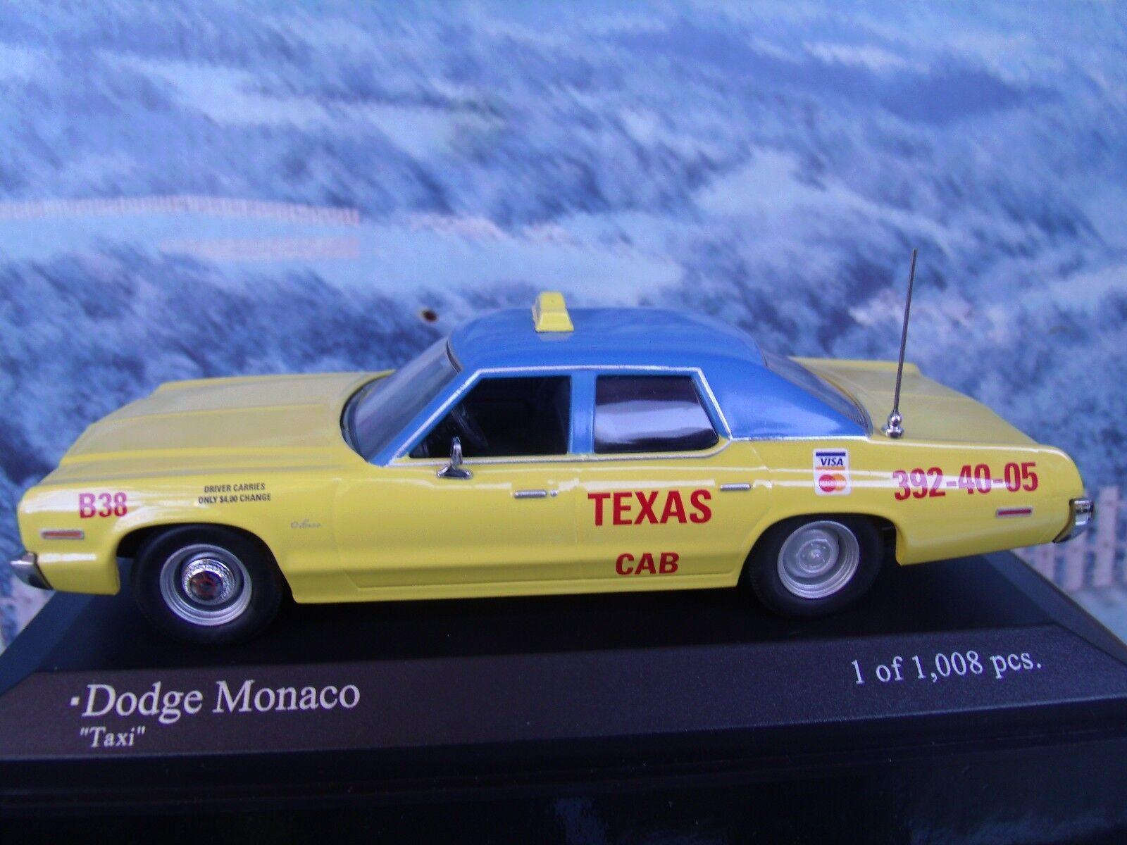 1 43   Minichamps Dodge Monaco Taxi 1974 1 of 1008