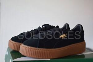newest 64967 caffc Details about Puma Suede Platform Creeper Black / Gum