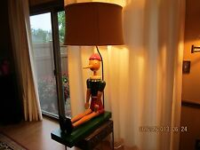 """Vintage Wood Pinocchio Lamp-Very Large 47"""" Tall-Made In Milan, Italy-Very Unique"""