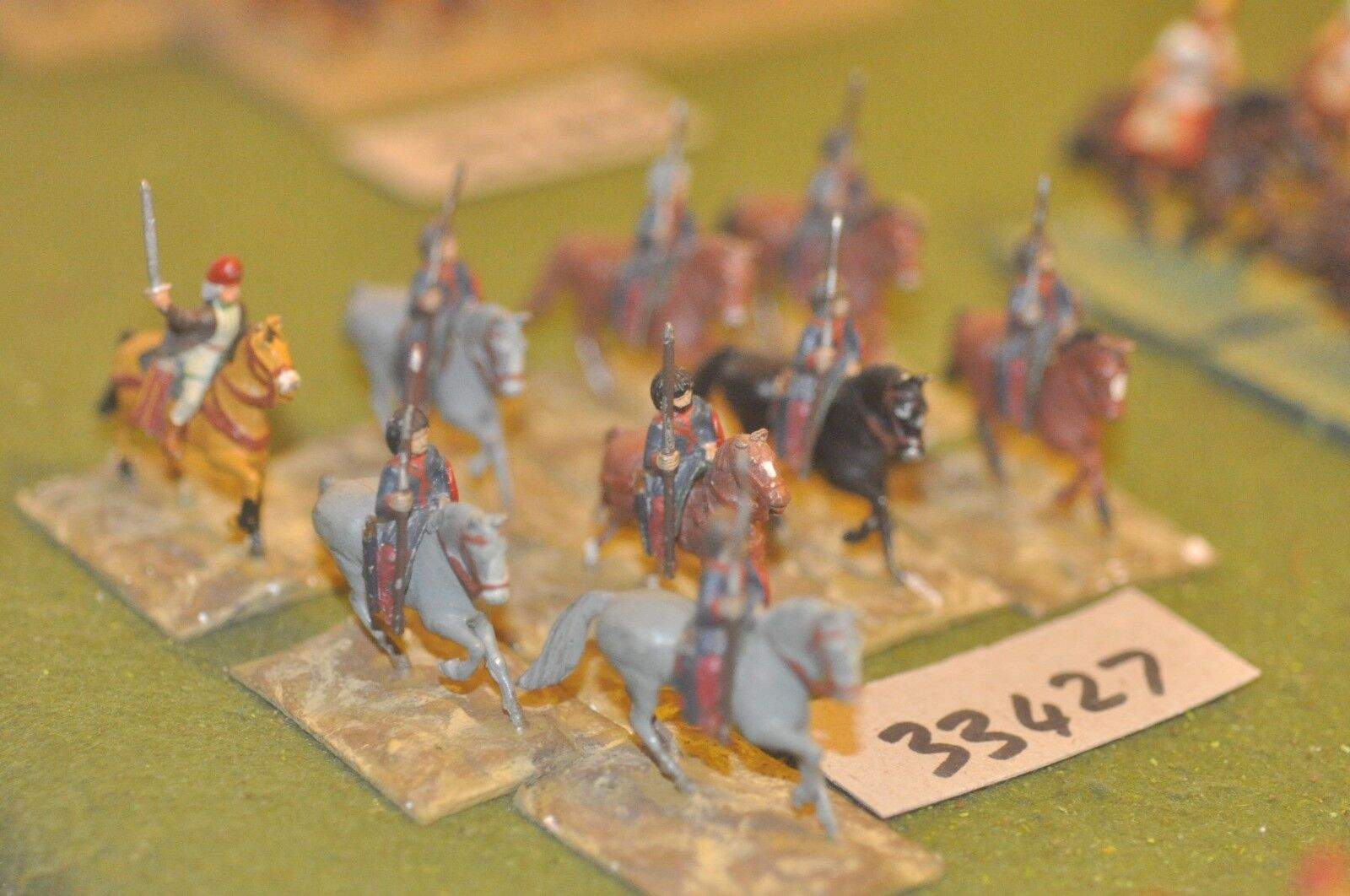 25mm roman era   sarmatian - light 9 figures - cav (33427)