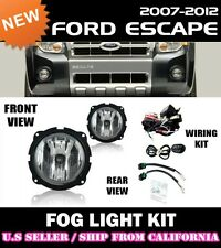 07-12 FORD ESCAPE Fog Light Driving Lamp Kit w/ Switch Wiring (CLEAR)