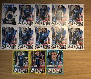 MATCH ATTAX 2020/21 FULL TEAM SET OF ALL 13 CLUB BRUGGE CARDS BRU1-BRU10 FOILS