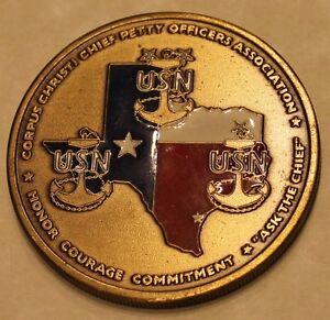 Corpus Christi Chief Petty Officers Association Navy Challenge Coin