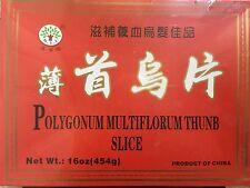 He Shou Wu Fo-Ti Polygonum multiflorum Loose Root Slice -16oz (何首乌片)