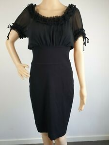 Review-Black-Wiggle-Formal-Party-Dress-Size-10