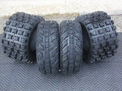 21x7-10 20x10-9 AMBUSH ATV TIRES SUZUKI LTZ 400 Z400 All 4 Tires