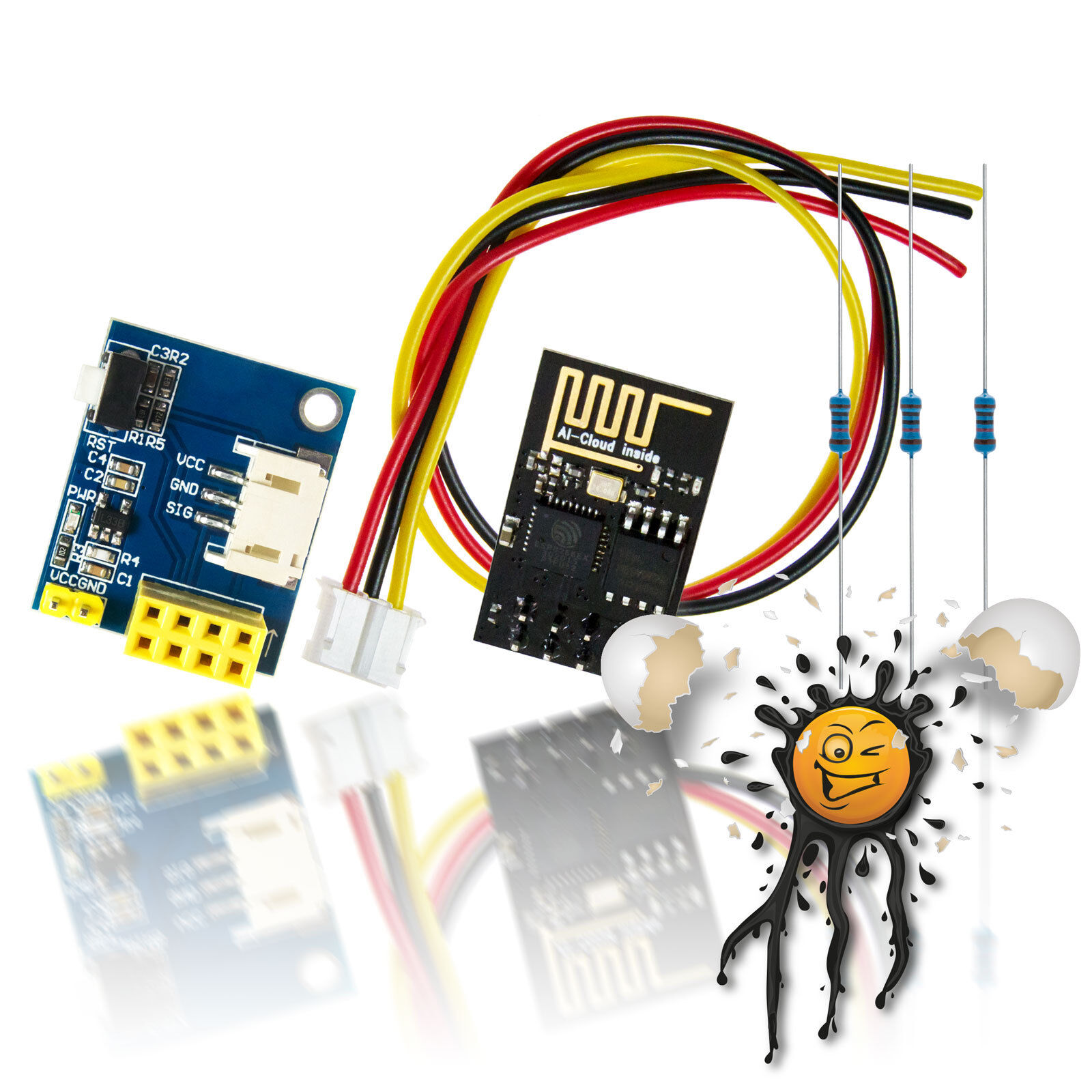 5mm RGB LED Sortiment 3.3V 5V 6V 9V 12V mit Vorwiderstand clear diffus 12 Teile