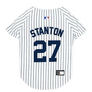 GIANCARLO-STANTON-27-Yankees-MLBPA-Officially-Licensed-Pinstripe-Dog-Jersey