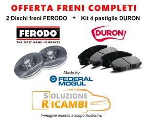 KIT-DISCHI-PASTIGLIE-FRENI-ANTERIORI-FIAT-RITMO-II-039-82-039-88-100-1-6-74-KW