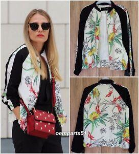 6 Jacket Taglia Zara Uk Floral Bomber Xs Ecru 8 Print 16xBOx8q