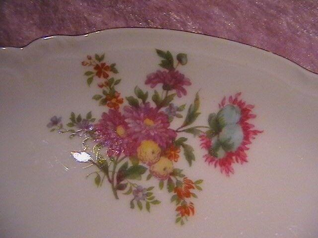 Porcelæn, Kage fad, Saxisk blomst. Bruxeles.