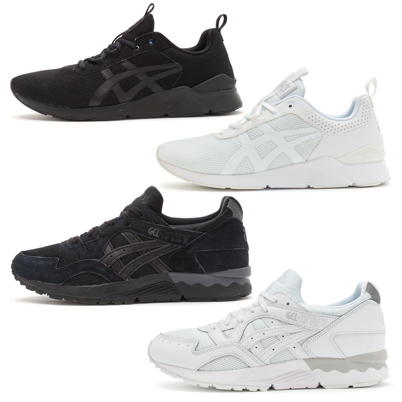 Asics Gel Lyte & Lyte V Running Trainers in Black & White H6K2N & HL6G3 best-selling model of the brand