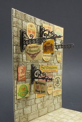 Reality In Scale 35149 Vintage German Business Signs 1:35 scale diorama access.