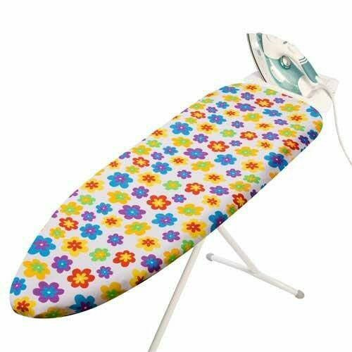 100% Cotton IRONING BOARD COVER 135x49cm Funtime with Thick Foam Backing  1532-1