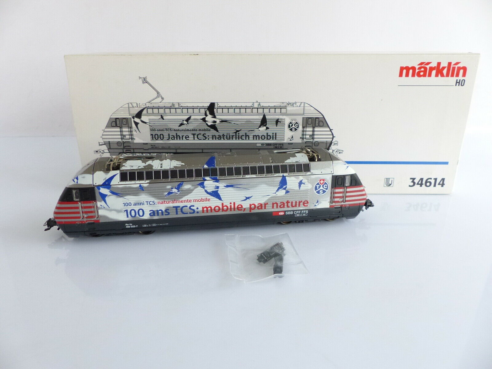 MARKLIN 34614 LOCOMOTIVE ELECTRIQUE Re 4 4 460 022-7   100 JAHRE TCS