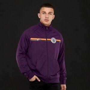 Details zu Nike Manchester City 201819 NSW Crest Jacket Night PurpleMetallic Silver M