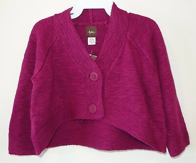 * Nwt Sweaters Tea Collection Magenta Mochi Cardigan Sweater Girl's 3-6 Month In Many Styles