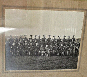 Rare-WW1-Large-Wooden-Framed-Photograph-Of-The-Lincolnshire-Yeomanry-1914
