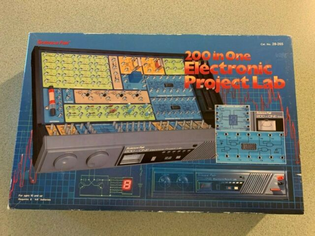 Vintage Science Fair 200 in One Electronic Lab Radio Shack 200 in 1 READ BELOW