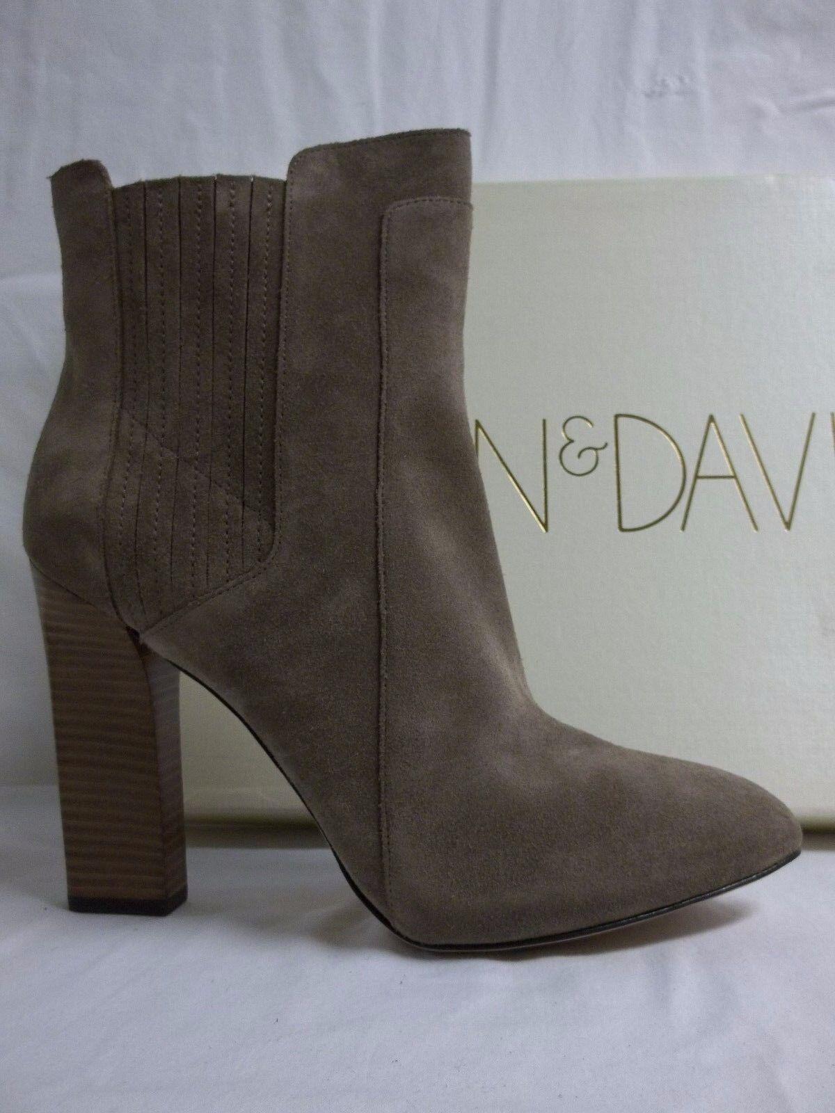 Joan & David Größe 11 M Praxy Taupe Suede Booties Heels NEU Damenschuhe Schuhes