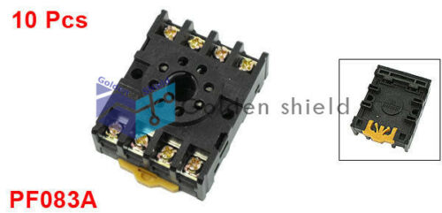 10 Pcs PF083A Time Relay Base Socket 8 Pin for JTX-2C DH48S