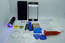 Samsung Galaxy S2 II GT-I910 Kit Riparazione Vetro Anteriore Nero,Loca Colla,