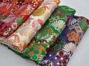 28 Wide Japanese Kimono Silk Damask Jacquard Brocade Fabric Nippon Kimono Set Ebay