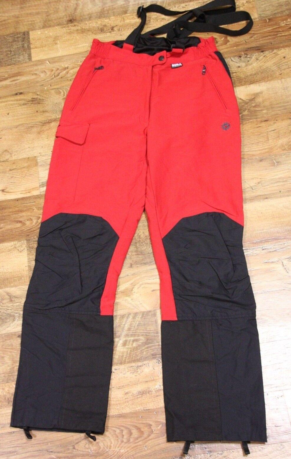 Salewa Dura Stretch In Cordura Da Sci Salopette Pantaloni Pantaloni Rosso Nero M