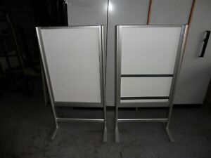 OFFICE-DOUBLE-SIDED-MAGNETIC-WHITEBOARD-DISPLAY-BOARD-BRISBANE