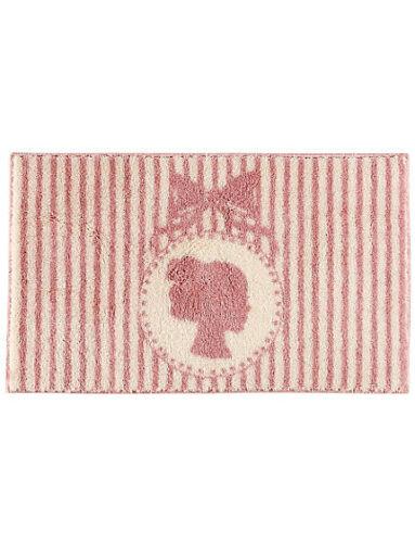 Grund Badematte rose rosa creme 90x160 cm  Shabby Chic Vintage-Look Badeteppich