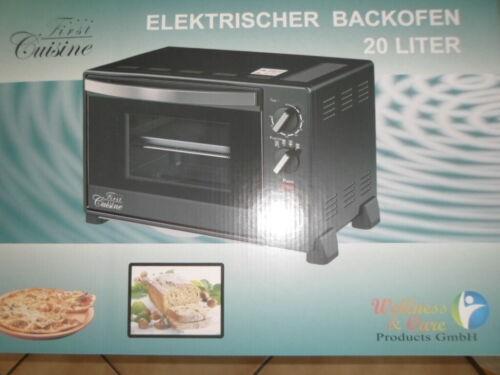 Brot Backofen Flammkuchen Pizzaofen. Leistung. 1500 Watt schwarz 20l  rpgaw