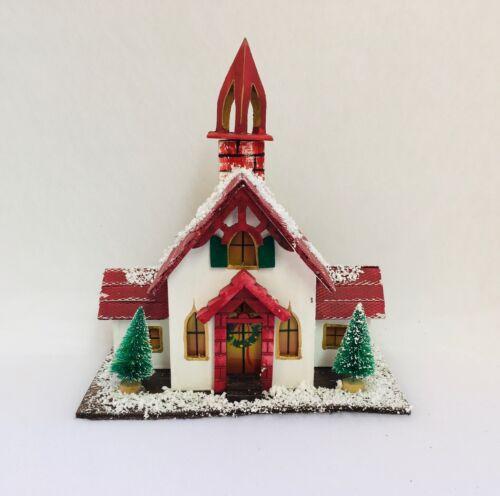 Noël Maison illumine hiver maison en bois Eglise Chapelle modèle 2
