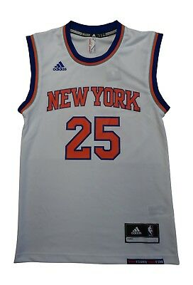 separation shoes d5da6 59412 Adidas New York Knicks Rose 25 Mens Nba Basketball Jersey Vest CB9994 | eBay