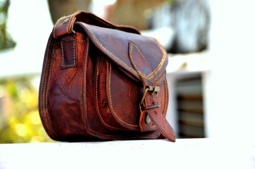 Vintage Women Genuine Dakota Leather Handbag Shoulder Bag Satchel Messenger New