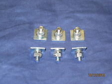 MG BL PACK OF SIX UNIVERSAL MGB MIDGET TRIM STUD PLATES FOR DOOR CAPPINGS  XY13