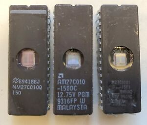 EPROM-27C010-0101-Ceramic-various-manufacturers-expanded-from-old-system-Slot
