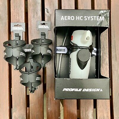 Profile Design Aero Hc System Triathlon Hydration 3 Bottle Cages Ebay
