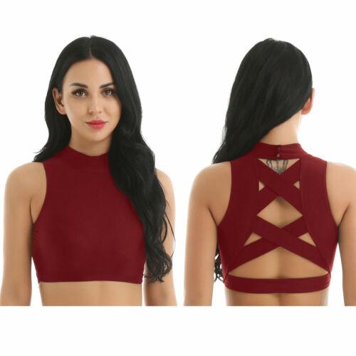 Women Fitness Bra Vests Slim Fit Tank Top Latin Dancewear Comfy Summer Crop Tops