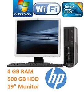 HP-FULL-COMPLETE-DESKTOP-SET-19-034-MONITOR-FAST-COMPUTER-SYSTEM-WIN7-WI-FI-SALE