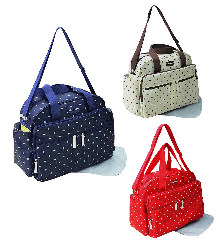 2 tlg Baby Wickeltasche Taschen Pflegetaschen Windeltasche Bag Henkeltasche