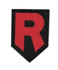 "4"" Team Rocket R Pokemon Logo Iron On Patch Embroidered Applique Sew on/Iron on"