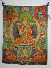 altes DALAI LAMA Buddha Thangka Yab Yum, Tibet 1970 filigrane Seide Malerei 90cm