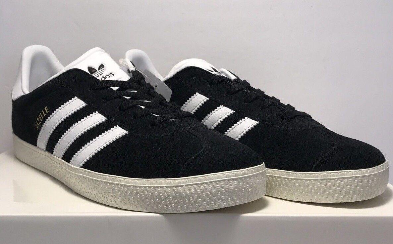 Adidas Uomo Size 7 Gazelle 2 2008 Suede Nero Athletic Casual Shoes New