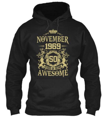 Trendsetting November 1969 50 Years Of Being Awesome Gildan Hoodie Sweatshirt