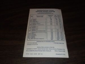 APRIL-1961-READING-COMPANY-HARRISBURG-READING-ALLENTOWN-PUBLIC-TIMETABLE