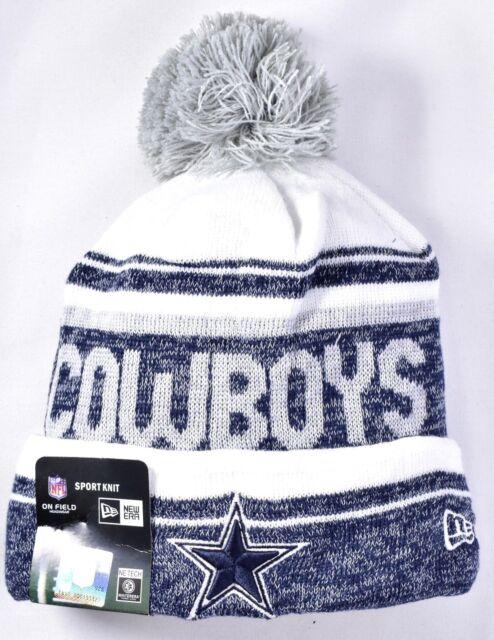 08e6ecd65 DALLAS COWBOYS New Era On Field Sport Knit Pom Beanie Hat OSFA NFL >NEW<