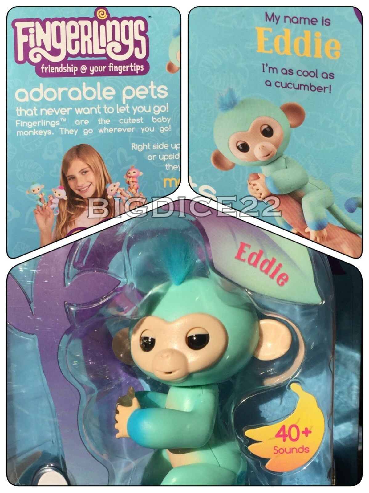 Other Interactive Toys Inventive Authentic Fingerlings Interactive Baby Sloth By Wowwee Kingsley Fingerling